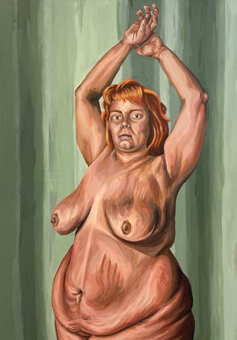 nude painting of woman